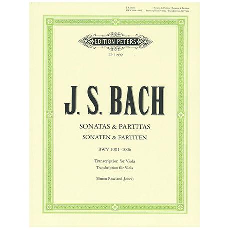 Bach, J. S.: 6 Sonaten und Partiten BWV 1001-1006 – für Viola