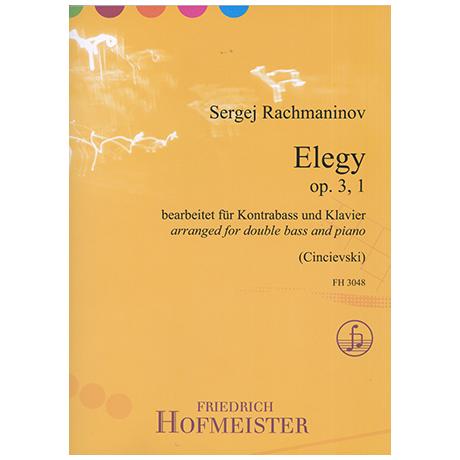 Rachmaninow, S.: Elegy Op.3/1