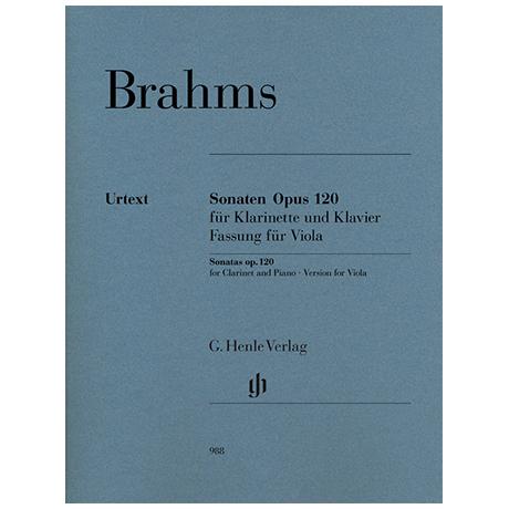 Brahms, J.: Violasonaten Op. 120/1-2 f-Moll und Es-Dur