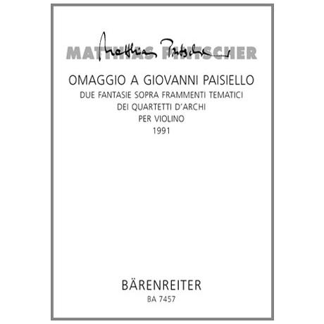 Pintscher, M.: Omaggio a Giovanni Paisiello