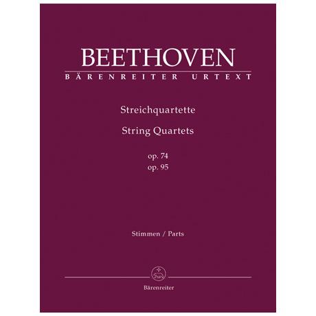 Beethoven, L. v.: Streichquartette Op. 74, 95
