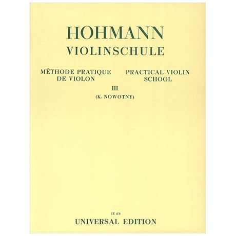 Hohmann, C. H.: Violinschule Band 3