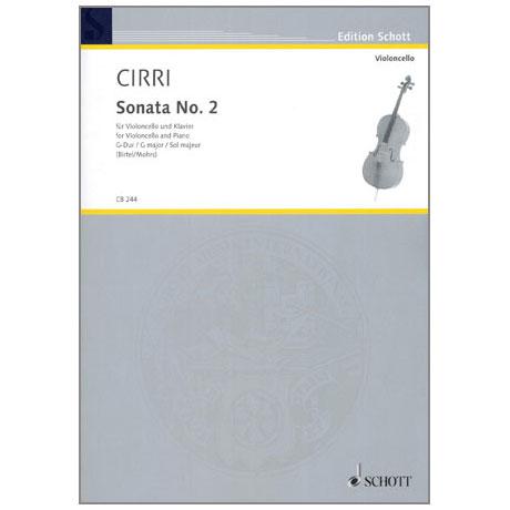 Cirri, G. B.: Violoncellosonata Nr. 2 G-Dur