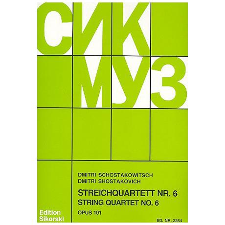 Schostakowitsch, D.: Streichquartett Nr. 6 Op. 101 G-Dur (1956)