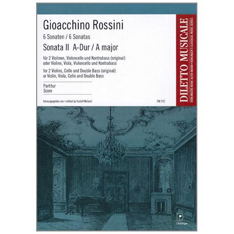 Rossini, G. A.: Sonata Nr. 2 A-Dur – Partitur
