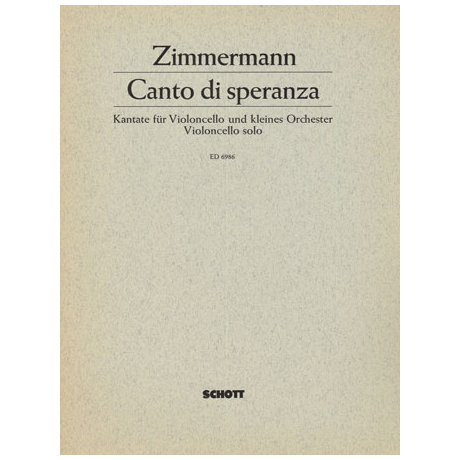 Zimmermann, B. A.: Canto di speranza