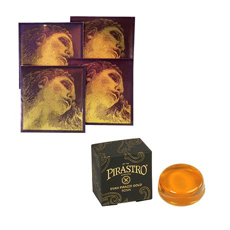 PIRASTRO Evah Pirazzi GOLD violin strings SET + rosin