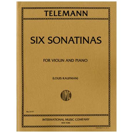 Telemann, G. Ph.: 6 Violinsonatinen