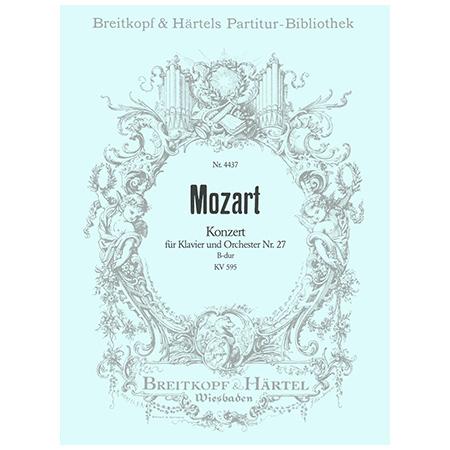 Mozart, W. A.: Klavierkonzert Nr. 27 B-Dur KV 595