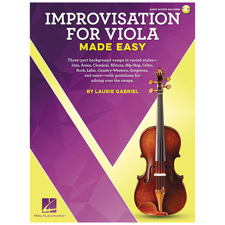 Gabriel, L.: Improvisation for Viola Made Easy (+ Online Audio)
