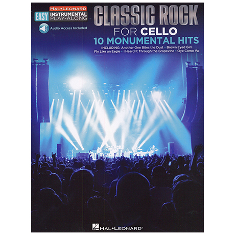 Classic Rock for Cello – 10 Monumental Hits (+Online Audio)