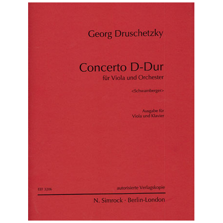 Druschetzky, G.: Violakonzert D-Dur