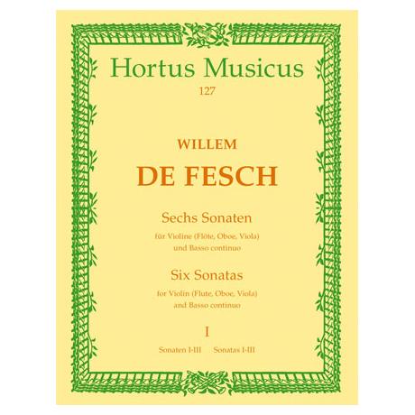 Fesch, W. d.: 6 Violinsonaten - Band 1