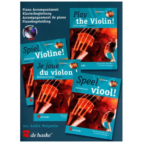 Elst, J. v.: Spiel Violine Band 1 (+CD) - Klavierbegleitung