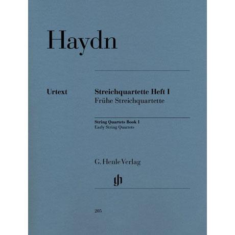 Haydn, J.: Streichquartette Heft 1: Op. 1/1-4, 1/6, Op. 2/1-2, 2/4, 2/6, Op. 1/0, Op. 3/5 Urtext