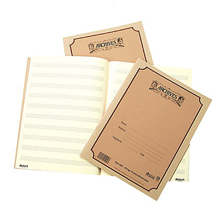 ARCHIVES staff paper pad