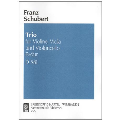 Schubert, F.: Streichtrio B-Dur, D 581