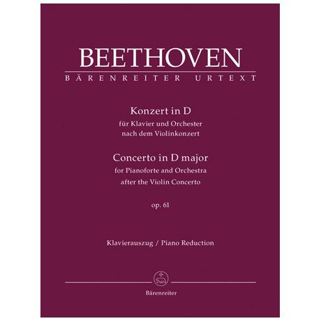 Beethoven, L. v.: Konzert Op. 61 D-Dur