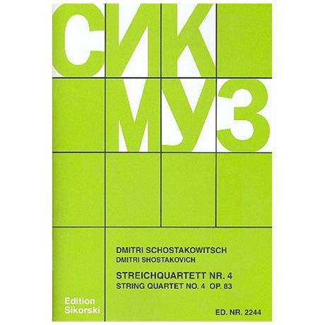 Schostakowitsch, D.: Streichquartett Nr. 4, op. 83