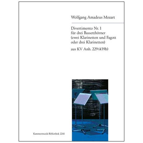 Mozart, W. A.: Divertimento Nr. 1 KV Anh. 229 (439b) B-Dur