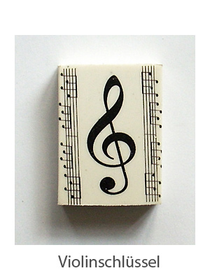 Rubber treble clef