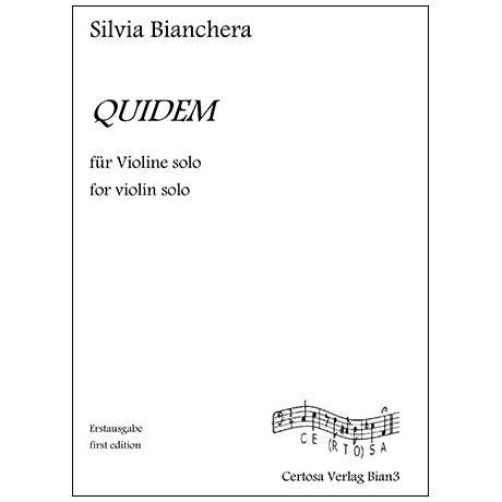Bianchera, S.: Quidem