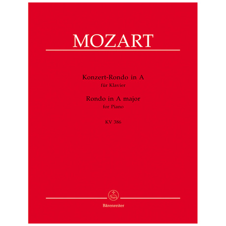 Mozart, W. A.: Konzert-Rondo KV 386 A-Dur
