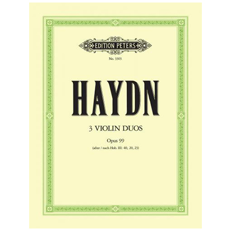 Haydn, J.: 3 Duos Op. 99