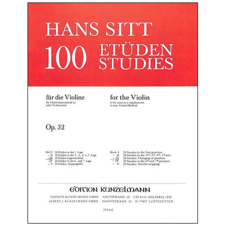 Sitt, H.: 100 Etüden Op. 32 Band 3