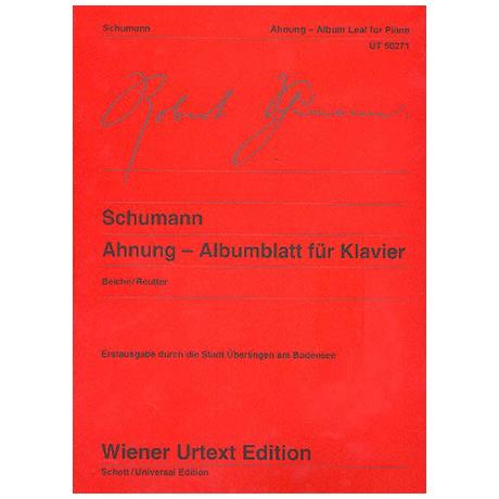 Schumann, R.: Ahnung