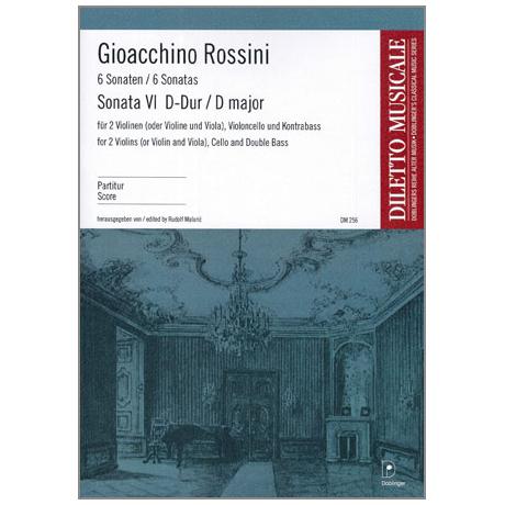 Rossini, G. A.: Sonata Nr. 6 G-Dur – Partitur