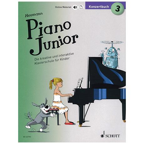 Heumann, H.-G.: Piano Junior – Konzertbuch Band 3 (+Online Material)