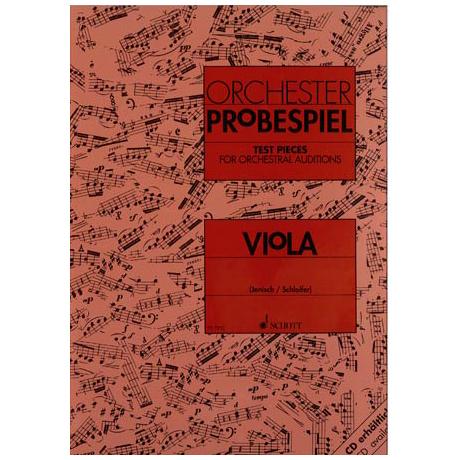 Orchesterprobespiel: Viola Sammlung wichtiger Passagen