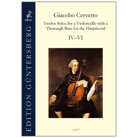 Cervetto, G.: 12 Solos Op. 2 – Violoncellosonate Nr. 4-6