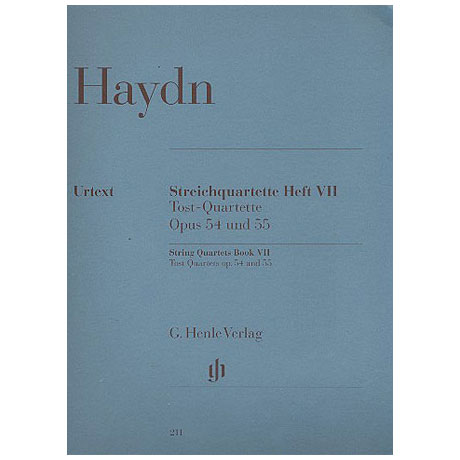 Haydn, J.: Streichquartette Heft VII Op. 54 und 55 »Tost-Quartette« – Stimmen