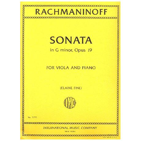 Rachmaninow, S.: Violasonate g-Moll Op. 19