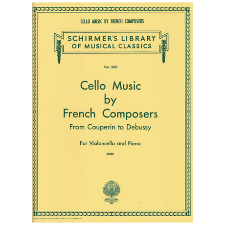 Cello Music by French Composers