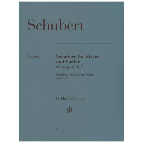 Schubert, F.: Violinsonatinen Op. 137 D-Dur, a-Moll, g-Moll