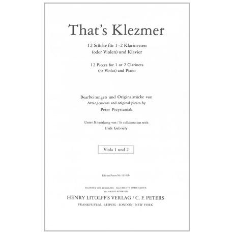 Przystaniak, P.: That's Klezmer – Violastimme