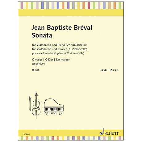 Breval, J-B.: Violoncellosonate Op. 40/1 C major