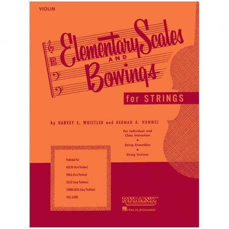 Whistler, H. S.: Elementary scales and Bowings – Violin