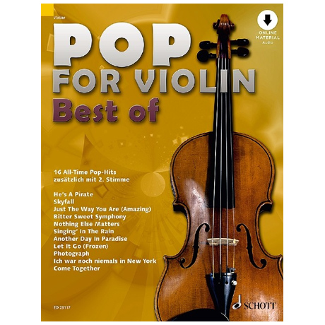Pop for Violin – Best of (+ Online Audio)