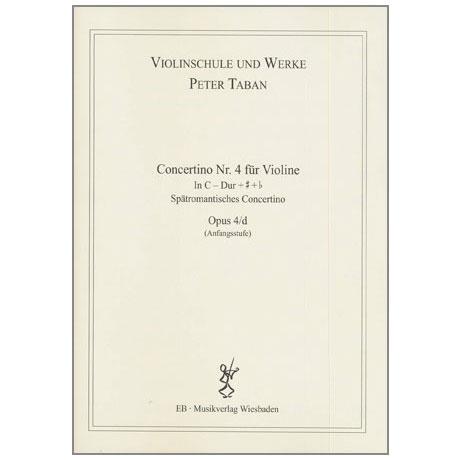 Taban, P.: Violinkonzert Nr. 4 Op. 4/d in C-Dur + # + b
