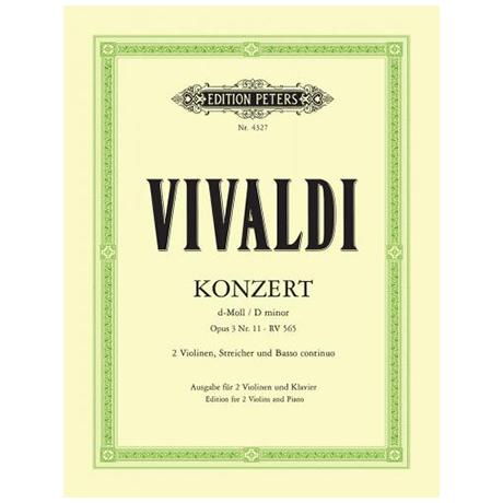 Vivaldi, A.: Doppelkonzert Op. 3/11 RV 565 d-Moll