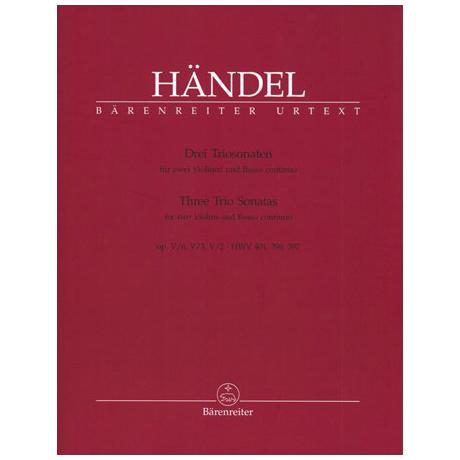 Händel, G. F.: 3 Triosonaten aus Op. 5