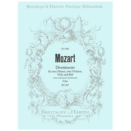 Mozart, W. A.: Divertimento F-Dur KV 247
