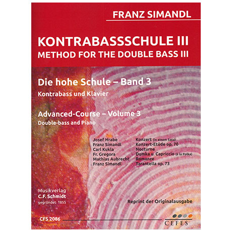 Simandl, F.: Kontrabassschule III – Die hohe Schule Band 3