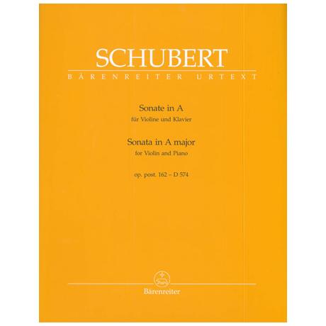 Schubert, F.: Violinsonate Op. post. 162 D 574 A-Dur