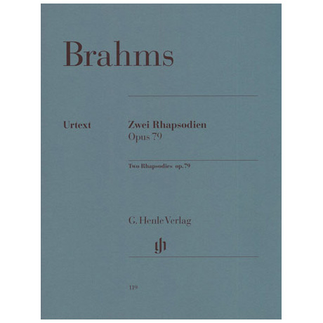 Brahms, J.: 2 Rhapsodien h-Moll, g-Moll Op. 79