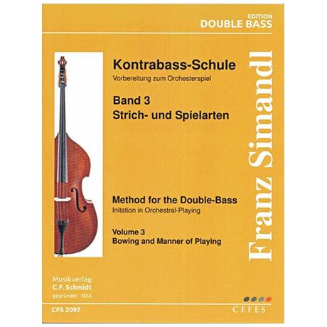 Simandl, F.: Kontrabass-Schule Band 3